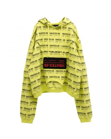 HOOD BY AIR ALLOVER HOODIE TERRY WITH TERRY / S02 : LIME