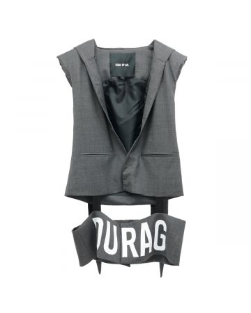 HOOD BY AIR SUITING VEST WITH DURAG / 835 : GREY