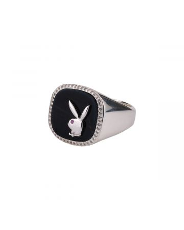 HATTON LABS x PLAYBOY MEMBERSHIP RING / SILVER-HAWK