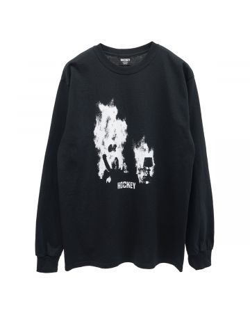HOCKEY AT EASE L/S TEE / BLACK