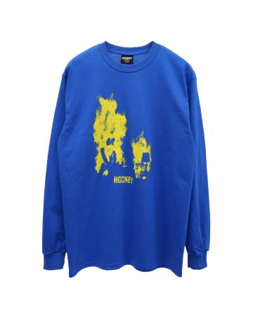 HOCKEY AT EASE L/S TEE / ROYAL