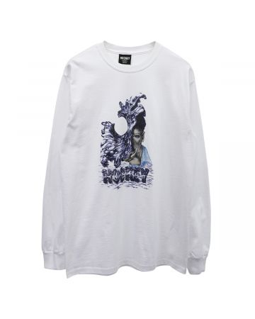 HOCKEY LIQUID METAL L/S TEE / WHITE