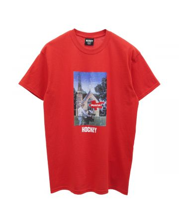 HOCKEY HELLHOLE TEE / RED