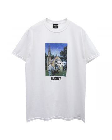 HOCKEY HELLHOLE TEE / WHITE