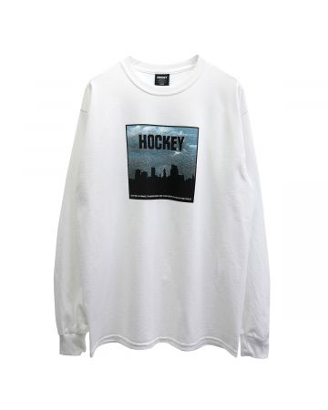 HOCKEY SIDE TWO LS TEE / WHITE