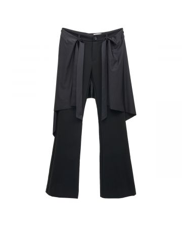 Jichoi 2 WAY FLARED PANTS / BLACK