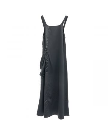Jichoi STRING DRESS WITH SNAPS ON SHOLDER / BLACK