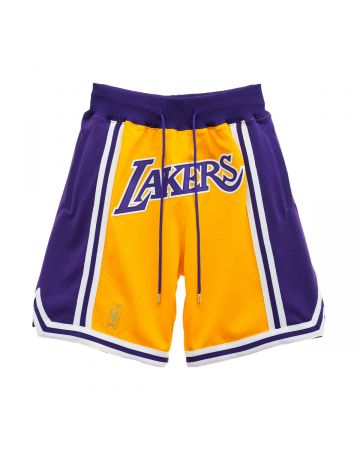 Just Don x Mitchell & Ness NBA JUST DON 1996-97 LAKERS SHORT / GOLD