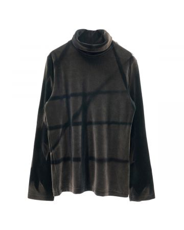 JiyongKim SUNFADED ROLL-NECK / BLACK
