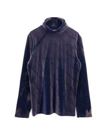 JiyongKim SUNFADED ROLL-NECK / BLUE