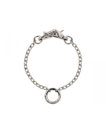 JOHN LAWRENCE SULLIVAN RING TOP SHORT CHAIN NECKLACE / SILVER