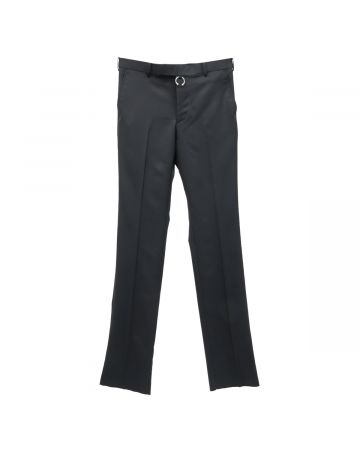 JOHN LAWRENCE SULLIVAN STRAIGHT TROUSERS WITH BODY PIERCING JEWELRY / BLACK