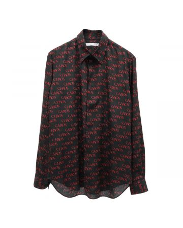 "JOHN LAWRENCE SULLIVAN ""CHAOS"" REGULAR COLLAR SHIRT / BLACK"