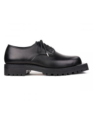 JOHN LAWRENCE SULLIVAN METAL TOE POSTMAN SHOES / BLACK