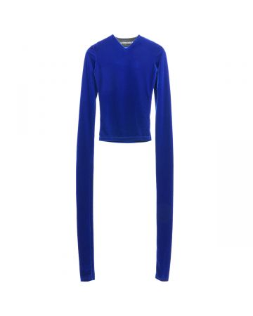 Y PROJECT EXTRA LONG SLEEVE TOP / BLUE
