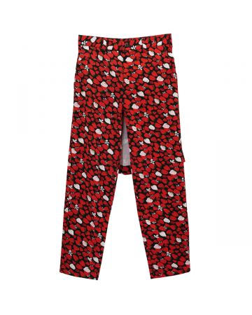 TAO COMME DES GARÇONS STRAWBERRY PANTS WITH SKIRT / RED