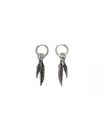 MARCELO BURLON FEATHERS PENDANT EARRINGS / 7276 : SILVER GOLD