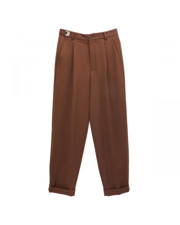 MAGLIANO ADJUSTABLE CLASSIC ONE PINCE TROUSERS / 002 : BROWN