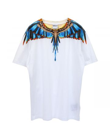 MARCELO BURLON GRIZZLY WINGS REGULAR TEE / 0140 : WHITE LIGHT BLUE