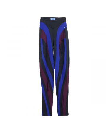 MUGLER TROUSERS / M6071 : MULTI COBALT BLUE