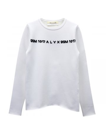 1017 ALYX 9SM 3D LOGO SWEATER / WTH0001 : WHITE