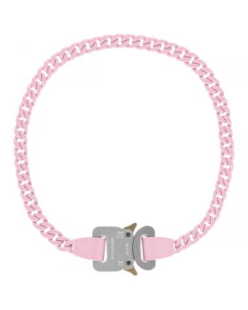1017 ALYX 9SM PINK CHAINLINK BUCKLE NECKLACE / PNK0006 : SOFT PINK