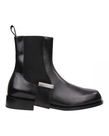 1017 ALYX 9SM LEATHER STRAP CHELSEA BOOT / BLK0001:BLACK