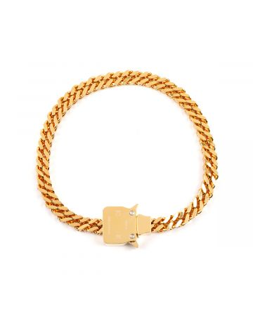 1017 ALYX 9SM CUBIX CHAIN NECKLACE W.FIXED BUCKLE / GLD0003 : GOLD SHINY