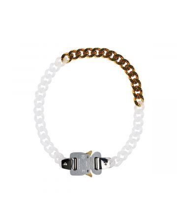 1017 ALYX 9SM TRANSPARENT CHAIN AND METAL NECKLACE / MTY0001 : TRANSPARENT-GOLD