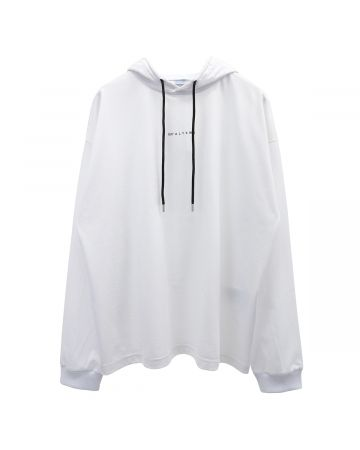 1017 ALYX 9SM HOODED TEE VISUAL / WTH0001 : WHITE
