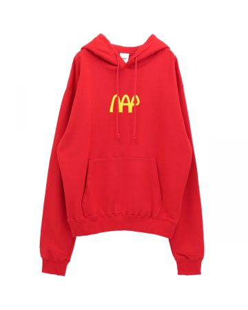 NEGLECT ADULT PATiENTS NAP BURGER LOGO HOODY / RED