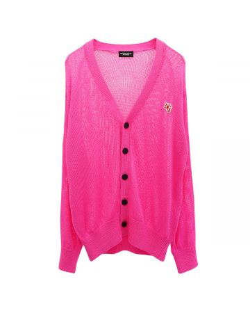 NEGLECT ADULT PATiENTS NG CARDIGAN / BRILLIANT PINK