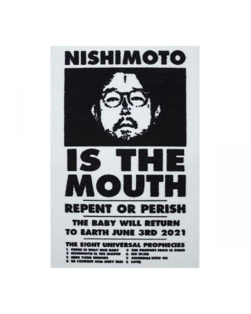 NISHIMOTO IS THE MOUTH ENTRANCE MAT / WHITE