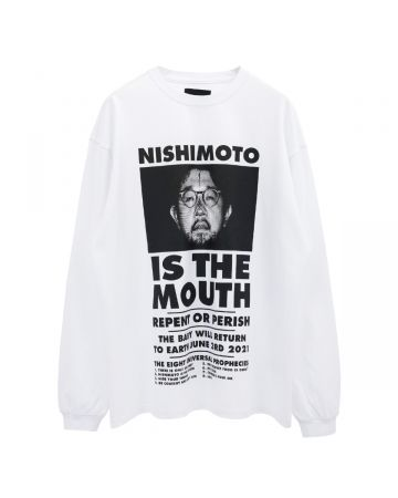 NISHIMOTO IS THE MOUTH L/S TEE / WHITE