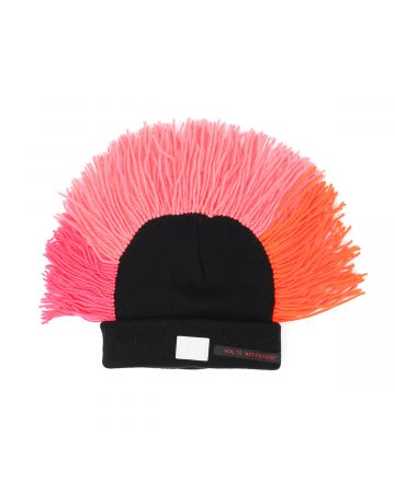 99%IS- MOHICAN BEANIE (CUSTOM HAND MADE FOR 1%) / BLACK-PINK