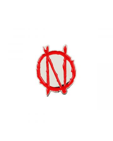 99%IS- N BADGE / RED-SILVER