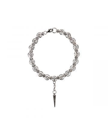 OHT NYC SPIKE NECKLACE WITH SWAROVSKI CRYSTAL / SILVER