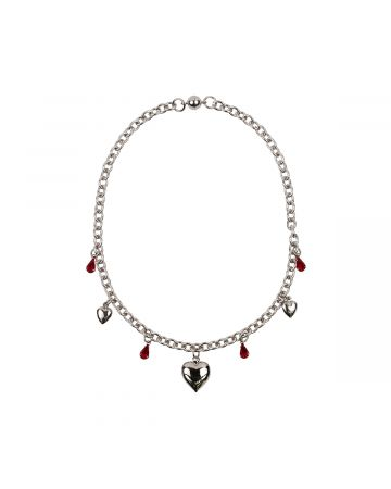 OHT NYC LOVE CHOKER WITH CRYSTAL / SILVER