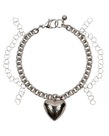 OHT NYC HEART AFFINITY NECKLACE / SILVER