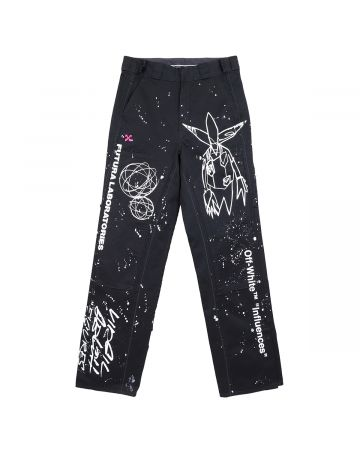 OFF-WHITE c/o Virgil Abloh MENS FUTURA ALIEN CARPENTER PANT / 1001 : BLACK WHITE