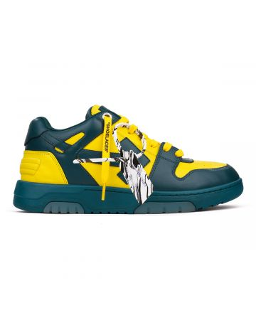 OFF-WHITE c/o Virgil Abloh MENS OUT OF OFFICE CALF LEATHER / 4518 : BLUE YELLOW