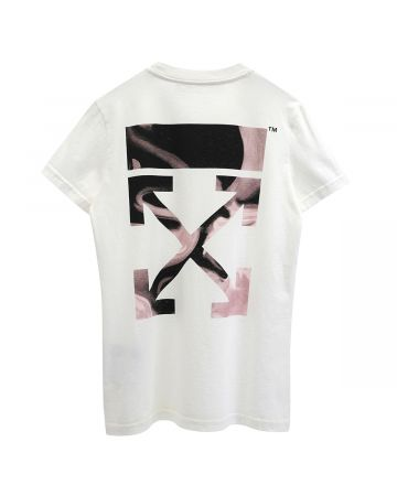 OFF-WHITE c/o Virgil Abloh WOMENS ARROW LIQUID MELT CASUAL TEE / 0331 : OFF WHITE