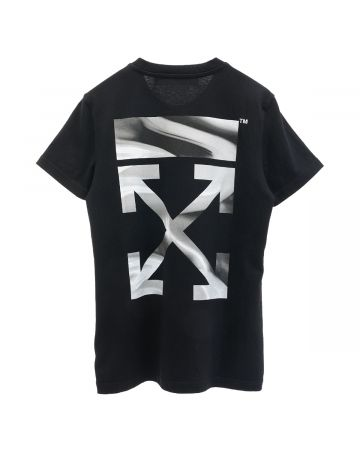 OFF-WHITE c/o Virgil Abloh WOMENS ARROW LIQUID MELT CASUAL TEE / 1009 : BLACK GREY