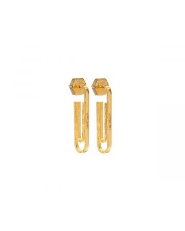 OFF-WHITE c/o Virgil Abloh WOMENS PAPERCLIP PENDANT EARRINGS / 7600 : GOLD NO COLOR