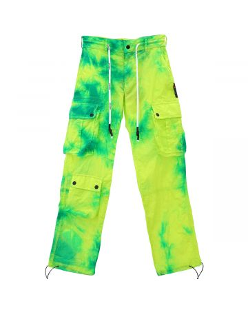 Palm Angels CARGO TIE-DYE PANTS / 4099 : GREEN ALL OVER