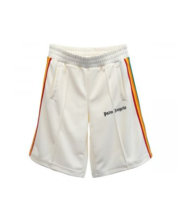 Palm Angels RAINBOW TRACK SHORTS / 0384 : OFF WHITE MULTI