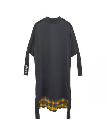 Palm Angels CHECK DUAL DRESS / 1018 : BLACK YELLOW