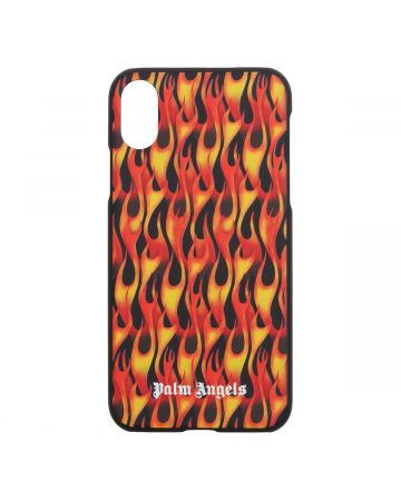 Palm Angels BURNING IPHONE CASE X / 1088 : BLACK MULTICOLOR