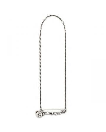 Palm Angels PIN BEAR NECKLACE / 7272 : SILVER SILVER