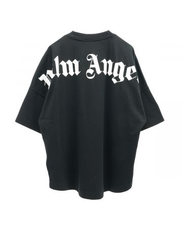 Palm Angels CLASSIC LOGO OVER TEE / 1001 : BLACK WHITE
